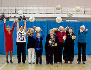 No fee for Repro: 13/12/2012.ITB and Fingal Age Friendly County Health and Well Being Success Story. Ladies from Fortlawn showing their ball skills as the Institute of Technology Blanchardstown (ITB) celebrated a collaborative initiative between the themselves and Fingal County Council's, Age Friendly County Strategy where older adult groups attended classes in ITB for the past 12 weeks, as part of the Fitness, Health and Well Being Programme.  Each recipient was presented with a Certificate of Participation from ITB President, Mary Meaney and Mayor of Fingal, Councillor Cian O'Callaghan. Picture Andres Poveda..For further information please contact; Ann-Marie Sheehan, Aspire PR T : 0872985569 / 018275181 E : annmarie@aspire-pr.com