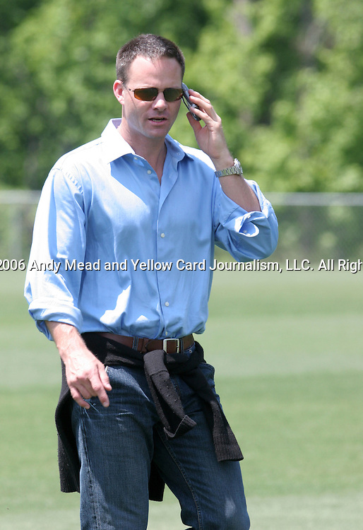 Eric Wynalda, soccer hall of famer and television commentator, on Wednesday, May 17th, 2006 at SAS Soccer Park in Cary, North Carolina. The United States Men's National Soccer Team held a training session as part of their preparations for the upcoming 2006 FIFA World Cup Finals being held in Germany.