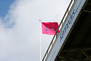 A Premier League flag at full mast before the Premier League match between Sheffield United and Crystal Palace at Bramall Lane, Sheffield, England on 18 August 2019.