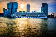 de aankomst van het cruiseschip Aida Perla het eerste cruiseschip van het jaar