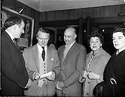05/02/1960<br /> 02/05/1060<br /> 05 February 1960 <br /> Premiere of Mise Eire at the Regal Cinema, Dublin.  On left is George Morisson  director of the film and in centre is Peter Hunt, recording engineer.