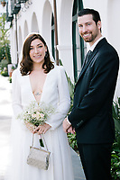 Hotel Californian Wedding Photos for Bride and Groom at Santa Barbara Hotel.
