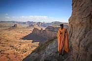 Ethiopia, Tigray, Maryam Korkor, Hermit Monk