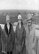 Tanaiste,Dick Spring,Visits Moneypoint..1984..23.11.1984..11.23.1984..23rd November 1984..The Tanaiste and Minister for Energy,Mr Dick Spring,visited Moneypoint Generating Station,Co Clare. He visited the site to view the progress of work there...Pictured high above the Moneypoint Generating Station were ,Mr P.J.Moriarty,CEO,ESB,Mr Heber McMahon,Site Manager and Mr Dick Spring TD,Tanaiste and Minister for Energy.