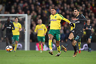 Davide Zappacosta of Chelsea and Josh Murphy of Norwich in action during the FA Cup match at Carrow Road, Norwich<br /> Picture by Paul Chesterton/Focus Images Ltd +44 7904 640267<br /> 06/01/2018