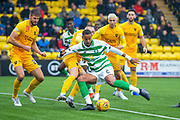 Christopher Jullien (#2) of Celtic FC shoots for goal during the Ladbrokes Scottish Premiership match between Livingston FC and Celtic FC at The Tony Macaroni Arena, Livingston, Scotland on 6 October 2019.