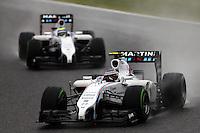 Valtteri Bottas (FIN) Williams FW36 leads team mate Felipe Massa (BRA) Williams FW36.<br /> Japanese Grand Prix, Sunday 5th October 2014. Suzuka, Japan.