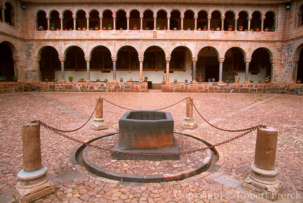 PERU, CUZCO, INCA CULTURE Coricancha or Inca Sun Temple