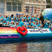 NLD/Amsterdam//20170805 - Gay Pride 2017, Boot van Waternet