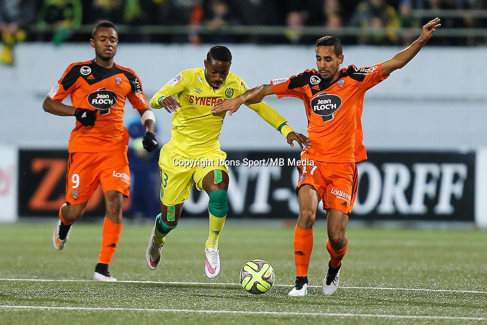 Serge GAKPE / Walhid MESLOUB - 20.12.2014 - Lorient / Nantes - 17eme journee de Ligue 1 -<br />Photo : Vincent Michel / Icon Sport