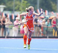 ARNHEM - Marilyn Agliotti, donderdag tijdens de oefenwedstrijd tussen de vrouwen van Nederland en Zuid Afrika. COPYRIGHT KOEN SUYK