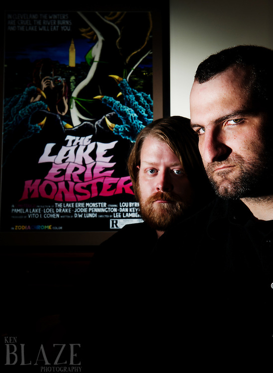 Jake Kelly, left, and John G, authors of the Lake Erie Monster.