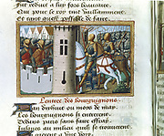 'Vigils of the Death of Charles VII'. Entry of the Burgundians into Paris, 1418. Martial of Paris called Auvergne (c1440-1508). Manuscript c1484.