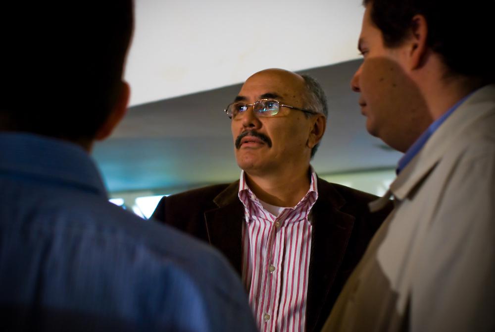 VENEZUELAN POLITICS / POLITICA EN VENEZUELA<br /> Ismael Garcia, General secretary political party's PODEMOS / Secretario general del partido politico PODEMOS<br /> Caracas - Venezuela 2009<br /> (Copyright © Aaron Sosa)