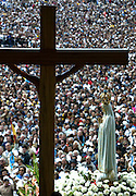 The statue of the Holy Mary of Fatima is carried during a procession at the Catholic Fatima shrine in central Portugal 13 Octuber 2005. Thousands of pilgrims converged on Fatima to celebrate the anniversary of the first apparition of the Virgin Mary to three shepherd children on 13 May 1917.PHOTO PAULO CUNHA/4SEE