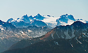 Mount Olympus (7980 feet / 2432 meters) is seen from Obstruction Point Road, Hurricane Ridge, Olympic National Park, Jefferson County, Washington, USA