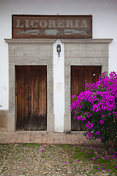 """Licoreria"" - These old wooden doors were photographed in the small mountain town of San Sebastian, Mexico."