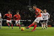 Brighton & Hove Albion centre forward Tomer Hemed (10) scores a goal 1-1 from the penalty spot during the EFL Sky Bet Championship match between Fulham and Brighton and Hove Albion at Craven Cottage, London, England on 2 January 2017.
