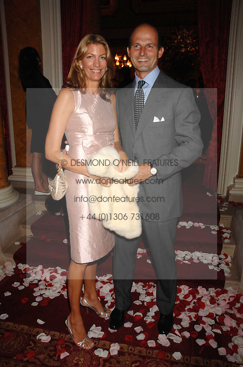 COUNT & COUNTESS RICCARDO PAVONCELLI she was Cosima Von Bulow daughter of Claus Von Bulow at a party to celebrate the launch of the 'Inde Mysterieuse' jewellery collection held at Lancaster House, London SW1 on 19th September 2007.<br />