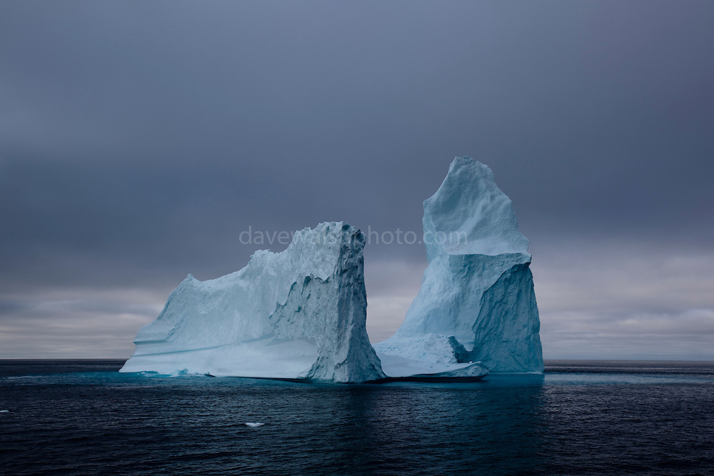 Cathedral iceberg, Baffin Bay, west of Greenland.<br />