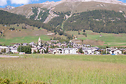The small town of Celerina, Maloja Region, Graubünden, Switzerland