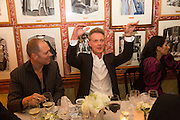 PAUL SIMONON; TIM MARLOW, Charles Finch and  Jay Jopling host dinner in celebration of Frieze Art Fair at the Birley Group's Harry's Bar. London. 10 October 2012.
