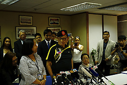 August 9, 2016 - Former president of the Filippines, Fidel Valdez Ramos (88) addressed local and foreign medias at the press conference held by Consulate General of the Philippines in Hong Kong. Ramos is in Hong Kong acting as a special convoy seeking for peaceful dialogue with China over disputed islands in the South China Sea. Aug 9, 2016. Hong Kong. Liau Chung Ren/ZUMA (Credit Image: © Liau Chung Ren via ZUMA Wire)
