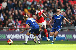 Asisat Oshoala of Arsenal Ladies looks to run past Gilly Flaherty of Chelsea Ladies - Mandatory byline: Jason Brown/JMP - 14/05/2016 - FOOTBALL - Wembley Stadium - London, England - Arsenal Ladies v Chelsea Ladies - SSE Women's FA Cup