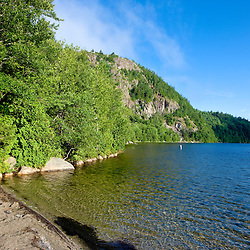 The beach at Echo Lake in Maine's Acadia National Park.