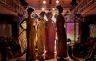 Models present Kashmiri creations by designer Ricci Roshan during a fashion show in New Delhi, India, Saturday, March 20, 2004. (AP Photo/Sebastian John)