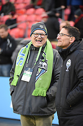 December 9, 2017 - Toronto, Ontario, Canada - Celebrity Drew Carey watches warm ups before the MLS Cup championship match at BMO Field in Toronto, Canada.  Toronto FC defeats Seattle Sounders 2 to 0. (Credit Image: © Mark Smith via ZUMA Wire)