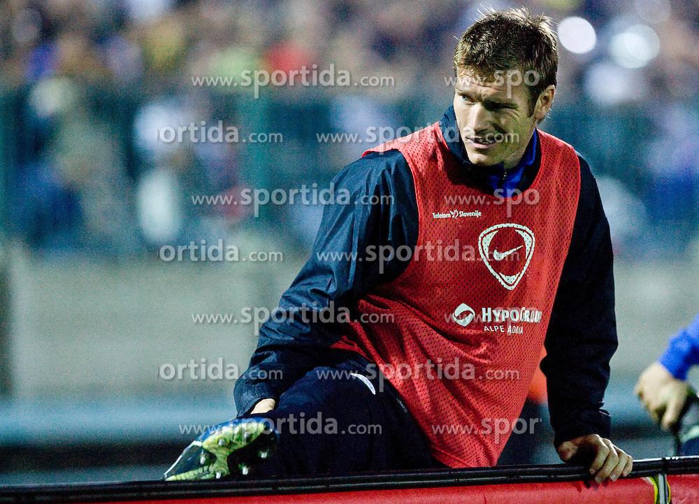 Matej Mavric of Slovenia at  the 2010 FIFA World Cup South Africa Qualifying match between Slovakia and Slovenia, on October 10, 2009, Tehelne Pole Stadium, Bratislava, Slovakia. Slovenia won 2:0. (Photo by Vid Ponikvar / Sportida)