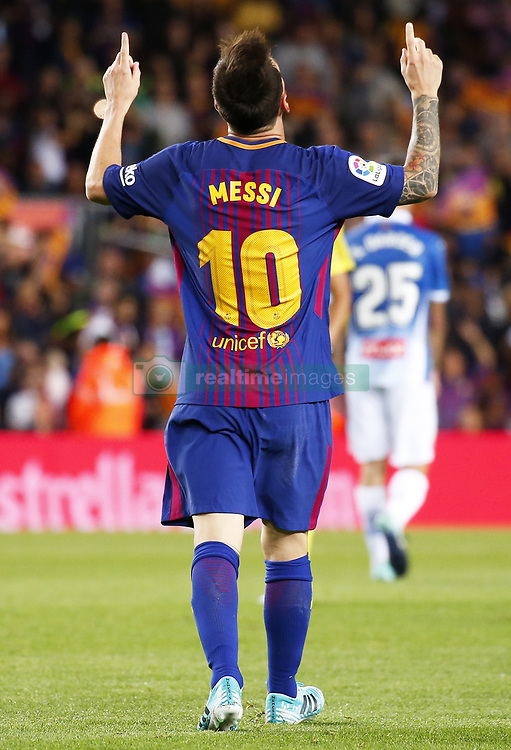 September 9, 2017 - Barcelona, Catalonia, Spain - Leo Messi during La Liga match between F.C. Barcelona v RCD Espanyol, in Barcelona, on September 09, 2017. (Credit Image: © Joan Valls/NurPhoto via ZUMA Press)