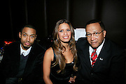 Terrence J, Rosci and Dr. Benjamin Chavis Muhummad at The Women in Entertainment Empowerment Network (WEEN) Signature, Fundraising series VIPink with An Exclusive Performance by Grammy Winning Super Producer/Songwriter Bryan-Michael Cox at the Boucarou Lounge on April 30. 2008.
