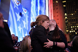 November 9, 2016 - New York, USA - US presidential election night in New York, USA. People express their emotions in the streets when Donald Trump wins the election (Credit Image: © Aftonbladet/IBL via ZUMA Wire)