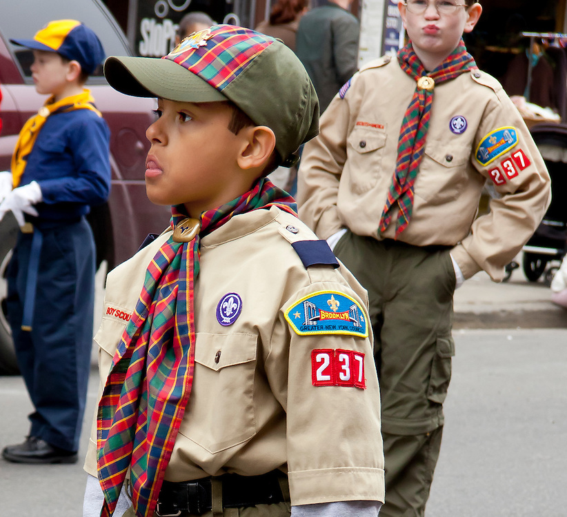 Young boy scout.