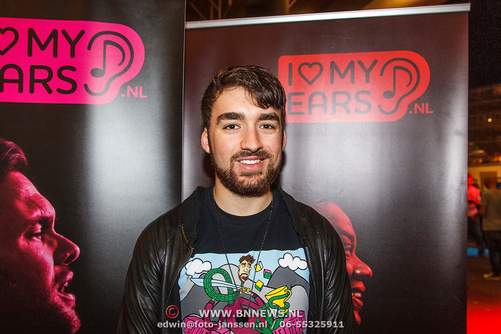 NLD/Amsterdam/20141018 - ADE 2014, AMF, Start campagne campagne 'I love my ears' DJ Oliver Heldens
