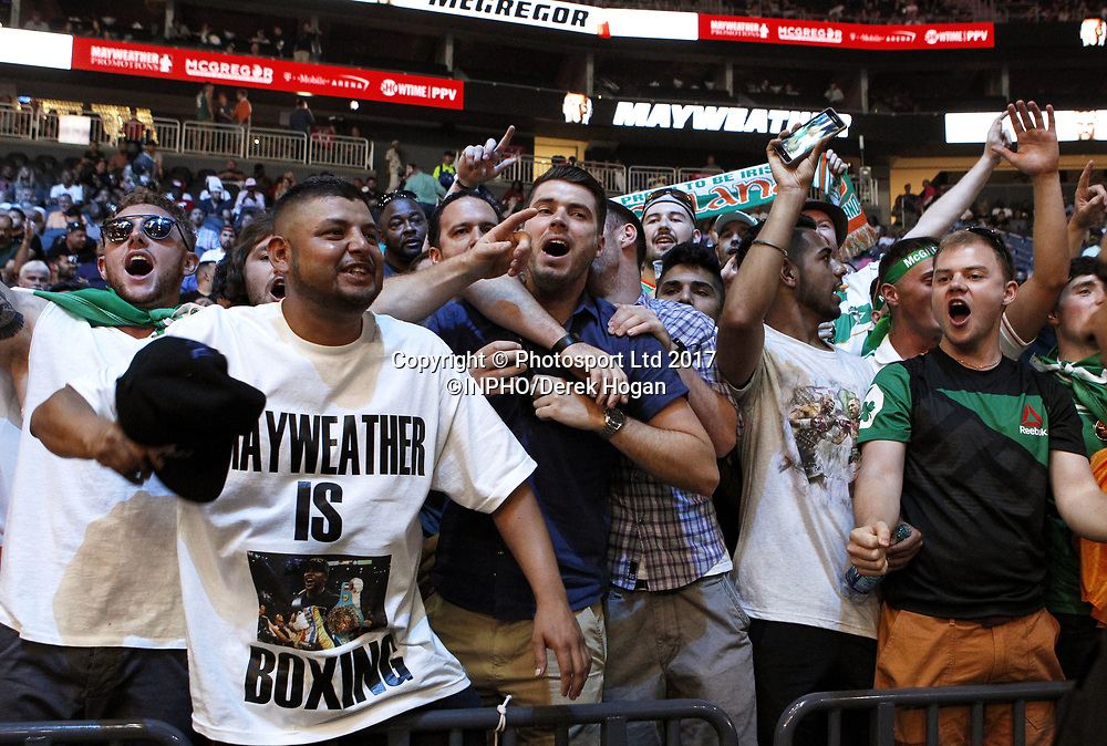 Mayweather vs McGregor Weigh-In, T-Mobile Arena, Las Vegas, Nevada 25/8/2017<br /> Fans at the weigh-in<br /> Mandatory Credit &copy;INPHO/Derek Hogan / www.photosport.nz