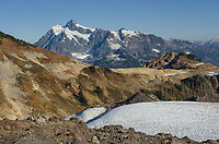 Mount Shuksan seen from Ptarmigan Ridge Trail. North Cascades  Washington