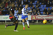 Reading's Hal Robson-Kanu shoots at goal during the Sky Bet Championship match between Reading and Queens Park Rangers at the Madejski Stadium, Reading, England on 3 December 2015. Photo by Mark Davies.