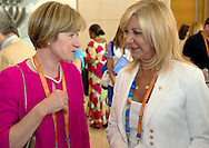 (L) Mary Davis - Director of Europe Eurasia Region Special Olympics & (R) Joanna Despotopoulou - President of the Special Olympics OC Athens 2011 while 2011 Special Olympics World Summer Games Athens on June 25, 2011..The idea of Special Olympics is that, with appropriate motivation and guidance, each person with intellectual disabilities can train, enjoy and benefit from participation in individual and team competitions...Greece, Athens, June 25, 2011...Picture also available in RAW (NEF) or TIFF format on special request...For editorial use only. Any commercial or promotional use requires permission...Mandatory credit: Photo by © Adam Nurkiewicz / Mediasport