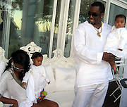 P. Diddy, Kim Porter with their twin kids.P. Diddy Real White Party to commemorate Labor Day.P. Diddy Easthampton Estate.Easthampton, NY, USA.Sunday, September, 02, 2007.Photo By Celebrityvibe; .To license this image please call (212) 410 5354 ; or.Email: celebrityvibe@gmail.com;.