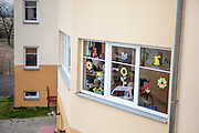 Aussenaufnahme des Pflegeheims in Pilsen, Tschechische Republik.