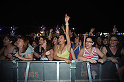 FANS CRY OUT LOUD DURING BON JOVI'S CONCERT, MAIN ATTRACTION OF THE FIRST NIGHT OF FESTIVAL.