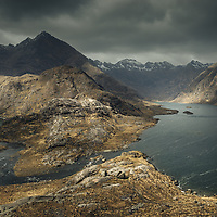 I ascended the lower slopes of Sgurr na Stri for this shot. A wonderfully moody sky over the Cuillin ridge provided the perfect backdrop to the dark and wind-blown surface of Loch Coruisk.
