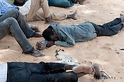African migrants resting in Archegour after a long and difficult travel in the Ténéré desert.