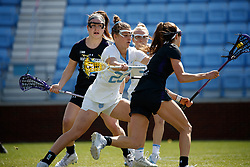 CHAPEL HILL, NC - MARCH 02: Emma Trenchard #23 of the North Carolina Tar Heels during a game against the Northwestern Wildcats on March 02, 2019 at the UNC Lacrosse and Soccer Stadium in Chapel Hill, North Carolina. North Carolina won 11-21. (Photo by Peyton Williams/US Lacrosse)