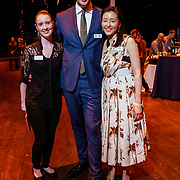 """PNB Young Patrons Circle """"Hive Society"""" Backstage Bash 2018. Andrew Hoge, Erin Richmond, and Jessica Zen. Photo by Alabastro Photography."""
