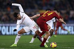 February 3, 2019 - Rome, Italy - AS Roma v AC Milan - Serie A.Paqueta of Milan and Konstantin Manolas of Roma at Olimpico Stadium in Rome, Italy on February 3, 2018. (Credit Image: © Matteo Ciambelli/NurPhoto via ZUMA Press)