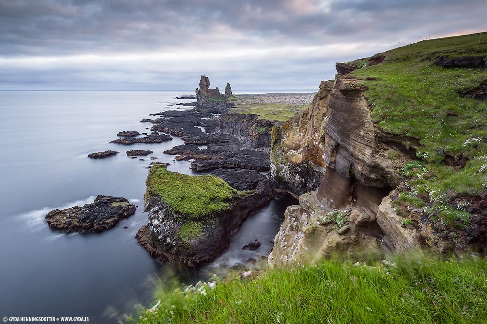 Lóndrangar in west-Iceland